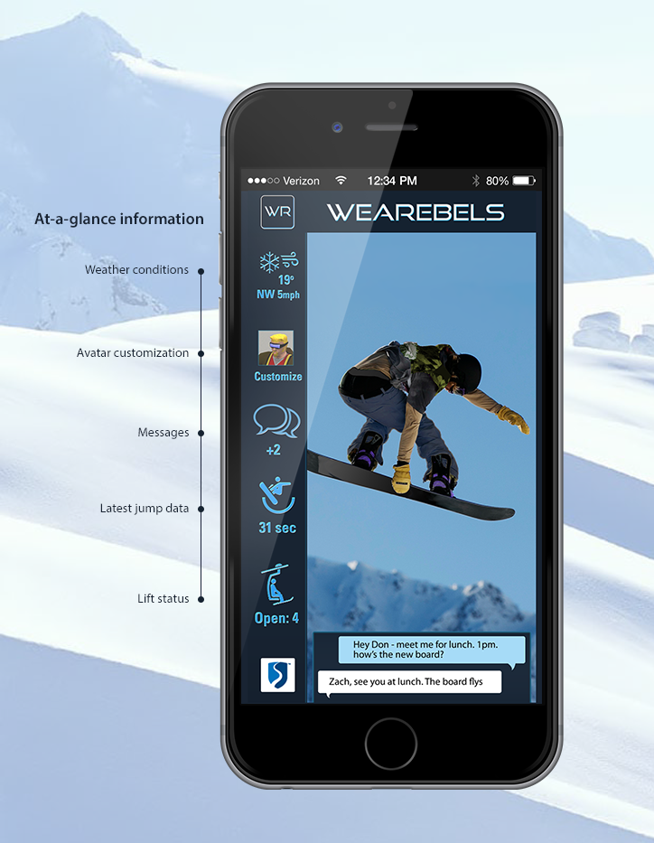 Snowboarding mobile application